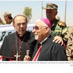 Monseigneur Petros Mouché et monseigneur Barbarin à Qaraqosh