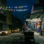 Christians shop at a store selling Christmas decorations in al-Hamdaniya
