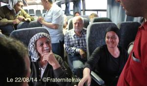 bus réfugiés Kalak Qaraqosh intérieur 22:08:14