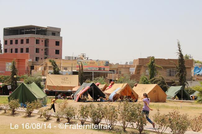 Actions d'urgence de Fraternité en Irak à Erbil