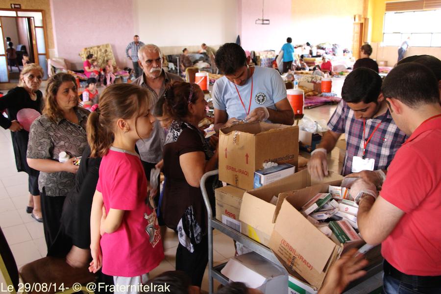 À bord de la consultation mobile soutenue par Fraternité en Irak