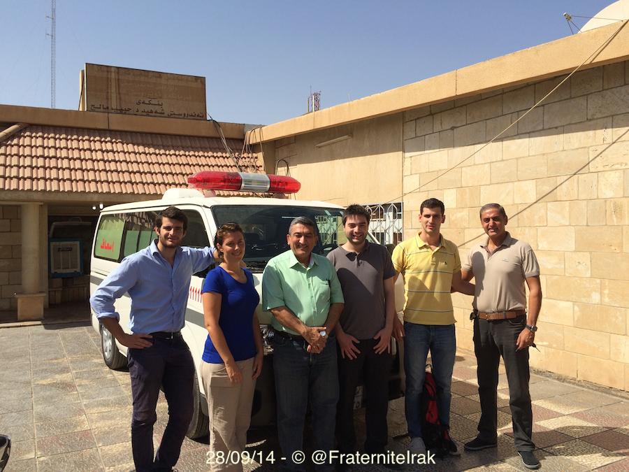 Une ambulance pour les réfugiés à Erbil