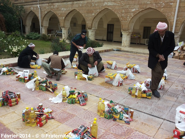Distribution-panier-repas-Alqosh-organisation-fevrier-2014