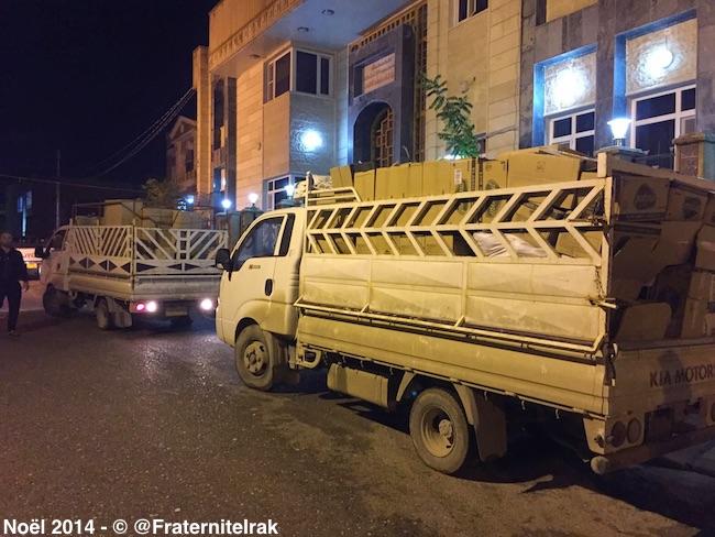 Produits-hygiene-Zakho-camions-nuit-départ-noel-2014