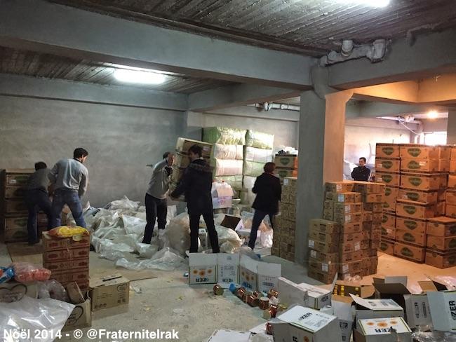 Produits-hygiene-stockage-Dohuk-benevoles-2-noel-2014