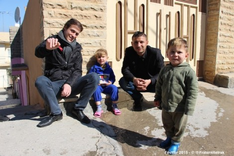 Grégory Turpin en tournée en Irak avec Fraternité en Irak