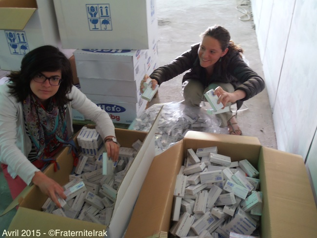 pauline-gabrielle-benevole-medicaments-stockage-erbil-avril-2015