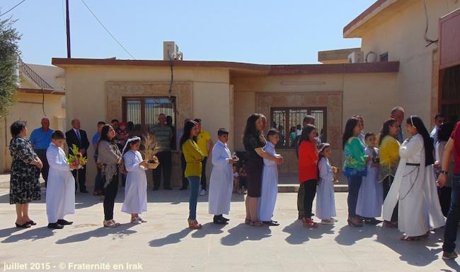 Jour de premières communions pour les déplacés chrétiens