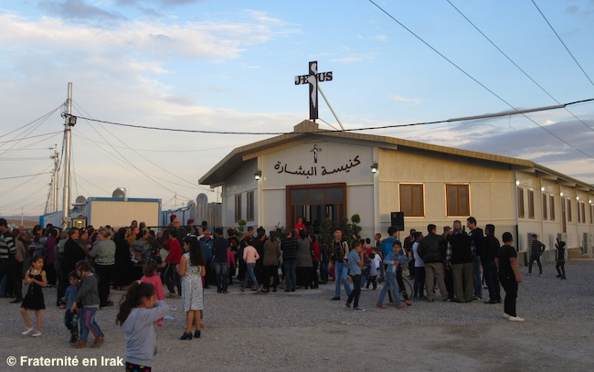 The new church for Iraqi Christian refugees is dedicated !