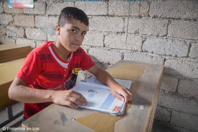 Fraternité en Irak ouvre une école pour les enfants yézidis