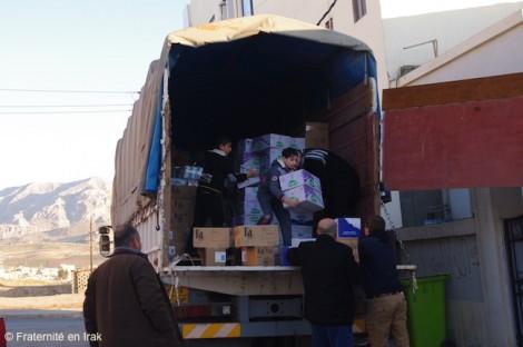 30 tonnes de nourriture et de produits d'hygiène distribuées au nord de l'Irak