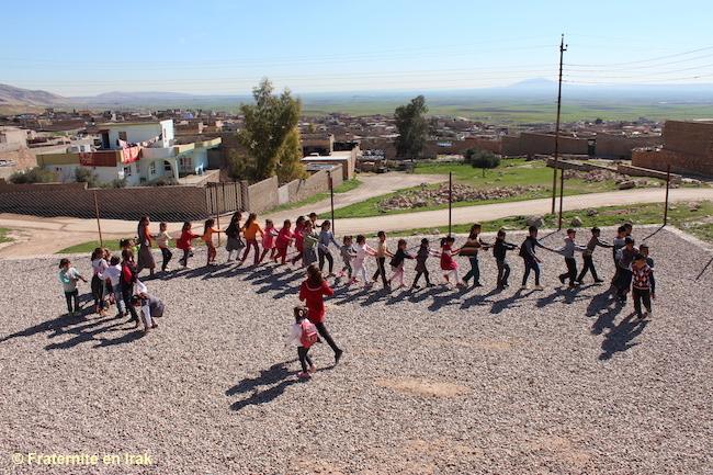 C'est la récré à l'école desYézidis de Bozan!