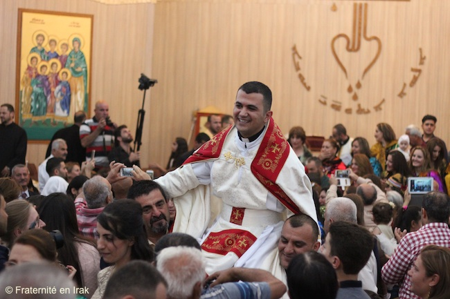 The parishioners' joy after the ordination of the three Syriac Catholic priests in the Mossul diocese