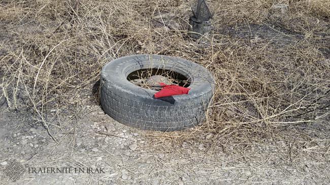 pneu-mine-deminage-village-kakai-fraternite-en-irak