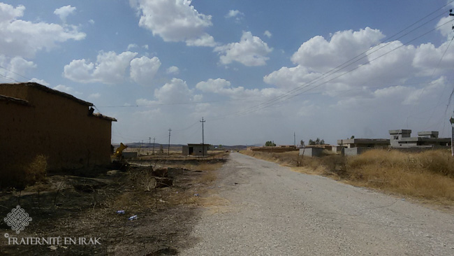 A Kakai village after its liberation by the Peshmerga forces at the end of May 2016