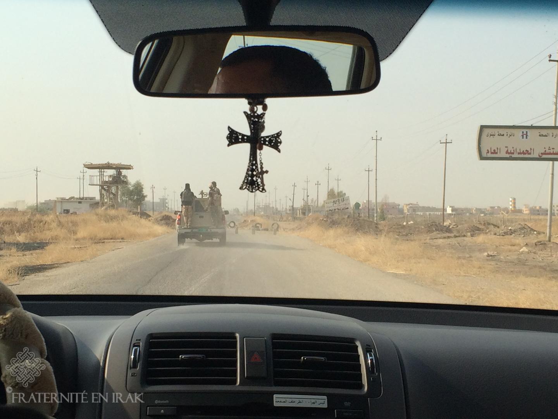Arrivée à Qaraqosh par la route la plus sûre, celle de Karamless
