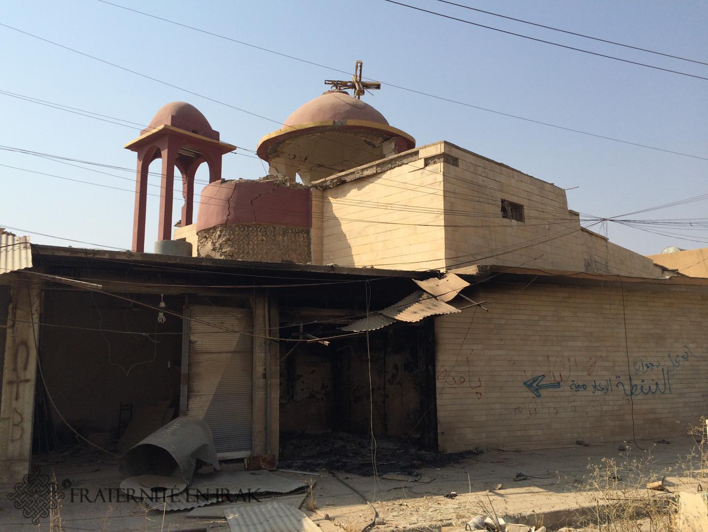 L'église Mar Zeina, dont le clocher a été endommagé, a perdu ses cloches