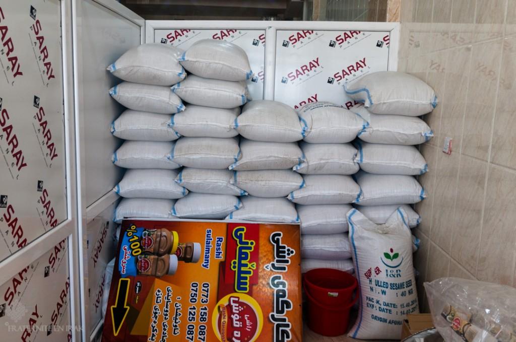 Usine Simsim - Stocks de graine (1,5 tonnes)