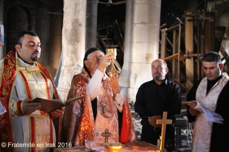 La toute première messe célébrée dans Qaraqosh libérée de Daech !