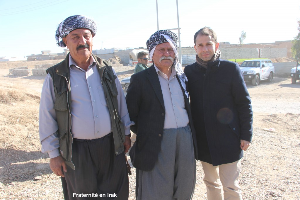 Faraj Benoît Camurat et les maires du village