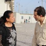 Faraj Benoit Camurat au camp d'Ashti à Erbil