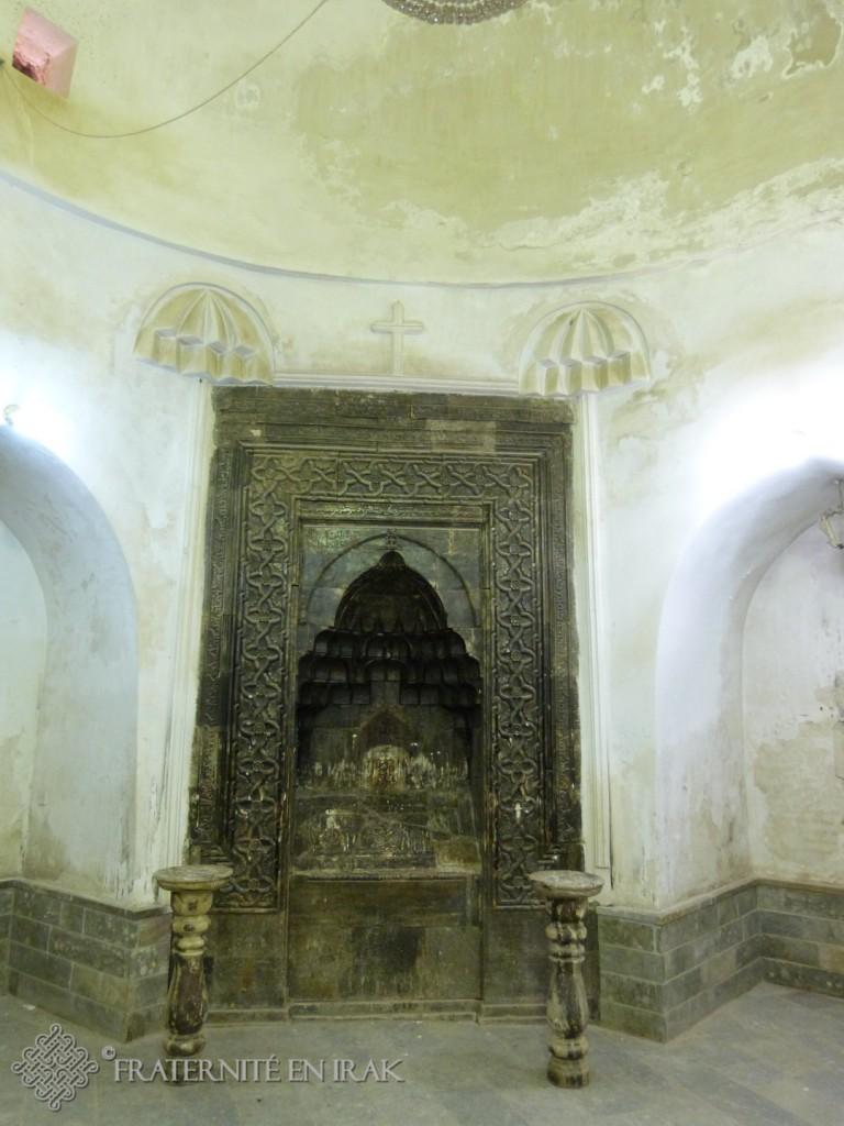 La niche abritant les reliques de Mar Behnam.