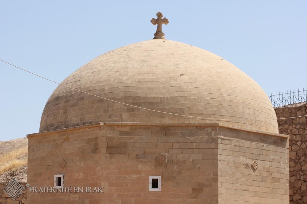 Le dôme du mausolée de Mar Behnam abritant l'ossuaire.