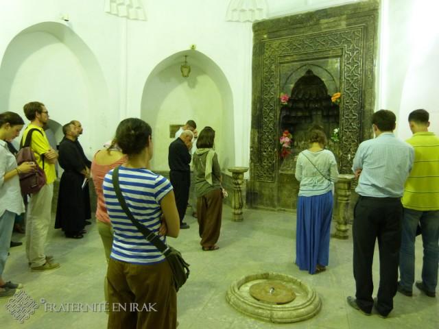 L'intérieur du mausolée de Mar Behnam.