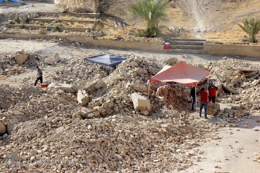 A Mar Behnam, des trésors sauvés des gravats