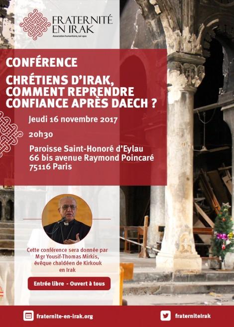 Conférence «Chrétiens d'Irak : comment reprendre confiance après Daech ?»