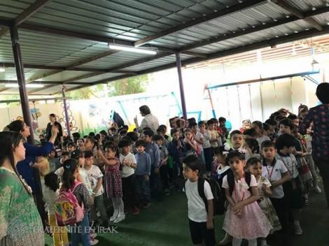 Fraternité en Irak agrandit une école au sud de l'Irak