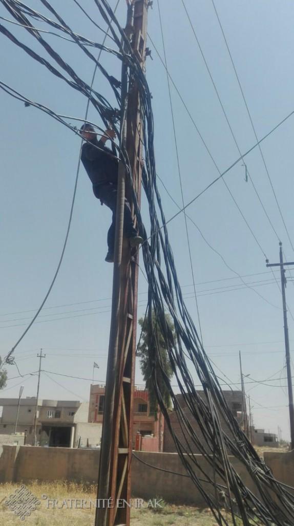 début des travaux de réfection de l'électricité