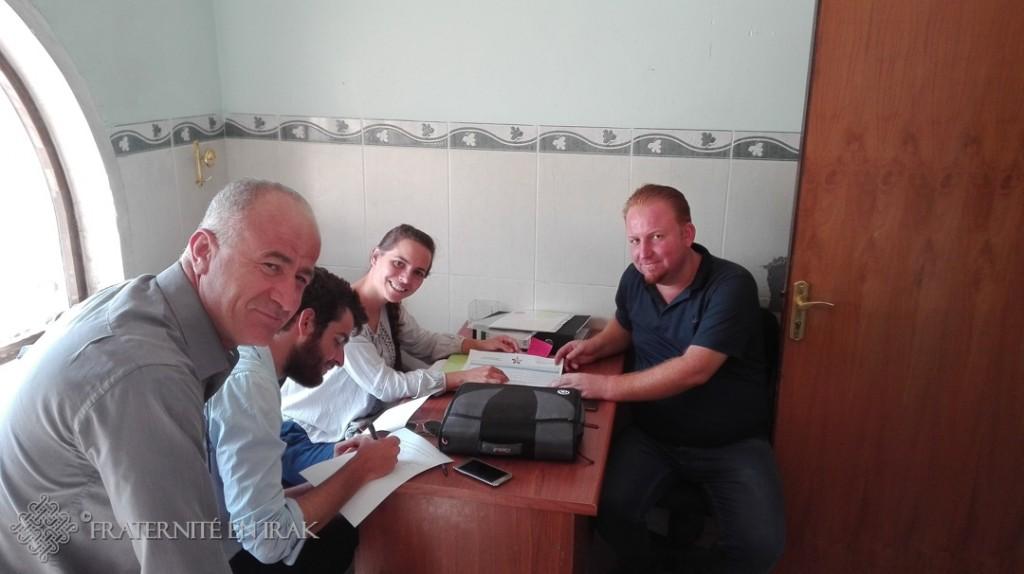 signature du contrat avec abouna jalal et l electricien