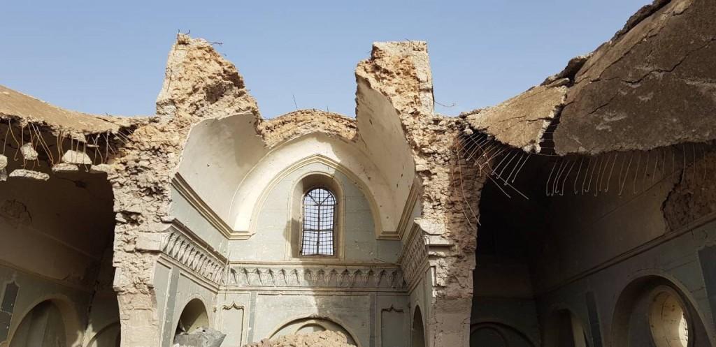 La cathédrale Al Tahira de Mossoul détruite par les bombardements - © Abouna Majeed Atallah/Fraternité en Irak