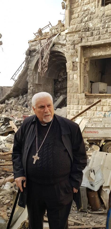 Mgr Petros Mouche : «À Mossoul, notre cathédrale n'est plus qu'un tas de pierres»