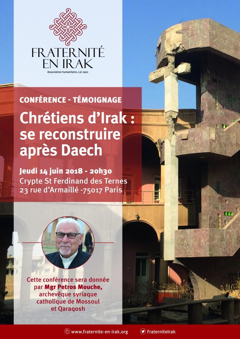 CONFERENCE – Jeudi 14 juin à Paris – Témoignage de Mgr Petros Mouché, archevêque de Mossoul et Qaraqosh