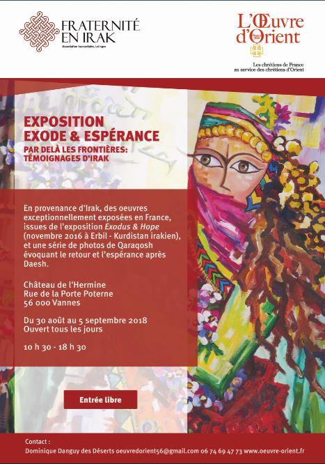30 août – 5 septembre : l'exposition Exode et Espérance est de passage à Vannes !