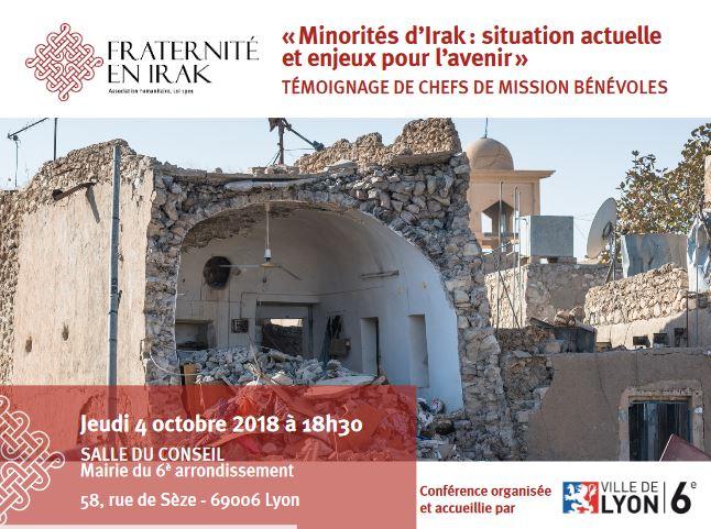 LYON 6e – 4 octobre – Minorités d'Irak : une conférence-témoignage à ne pas rater !