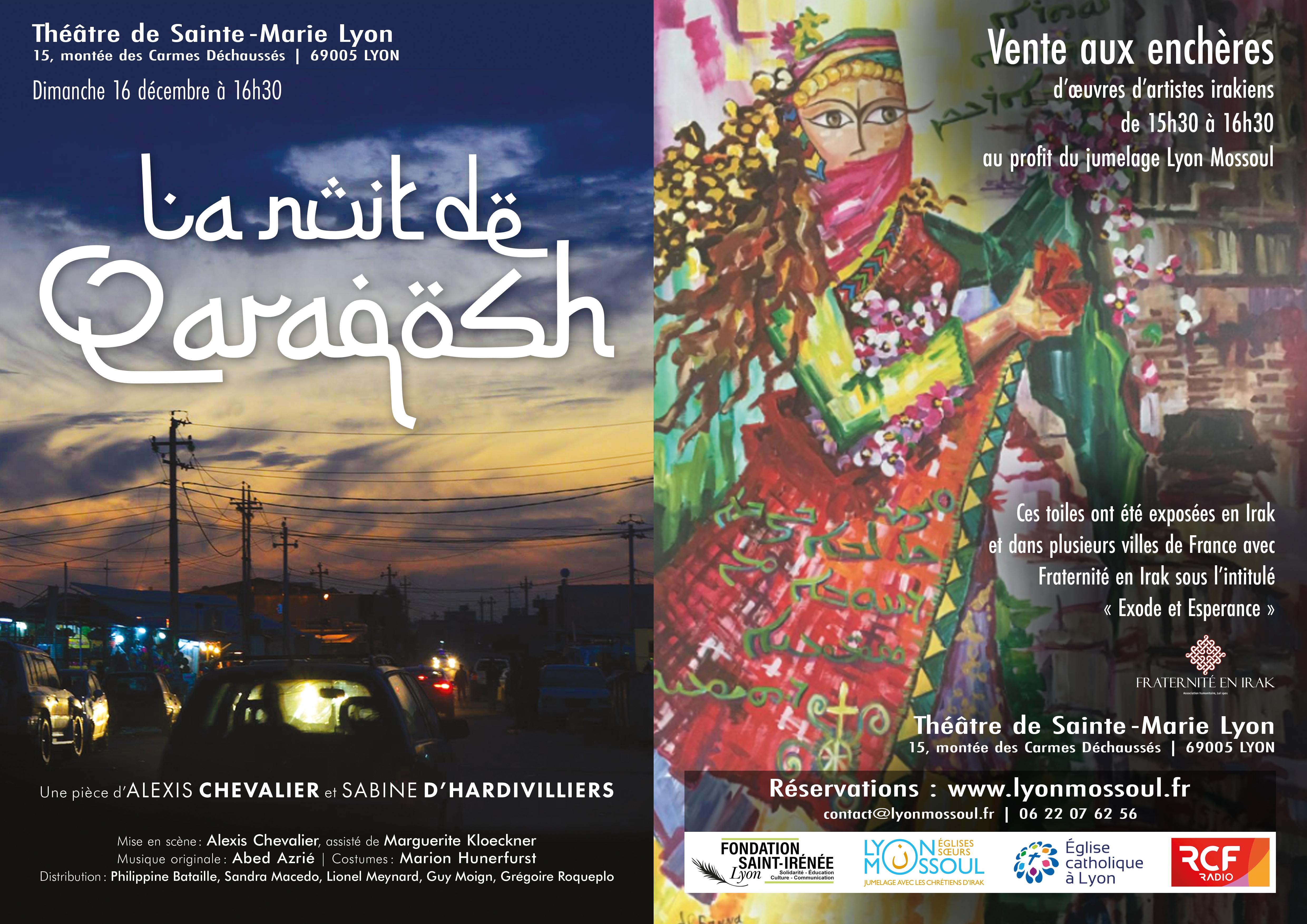 LYON – 16 décembre – Vente aux enchères d'oeuvres issues de l'exposition «Exode et Espérance»