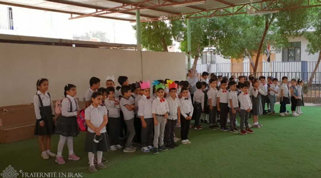 Pupils back at work in the extended Basra School