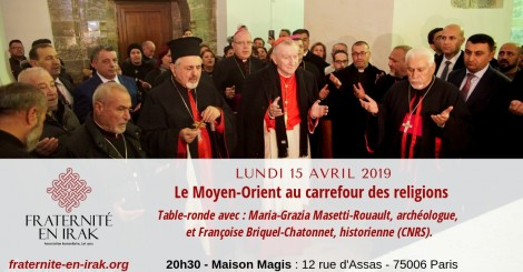 15 avril – Paris : Table-ronde « Le Moyen-Orient au carrefour des religions »