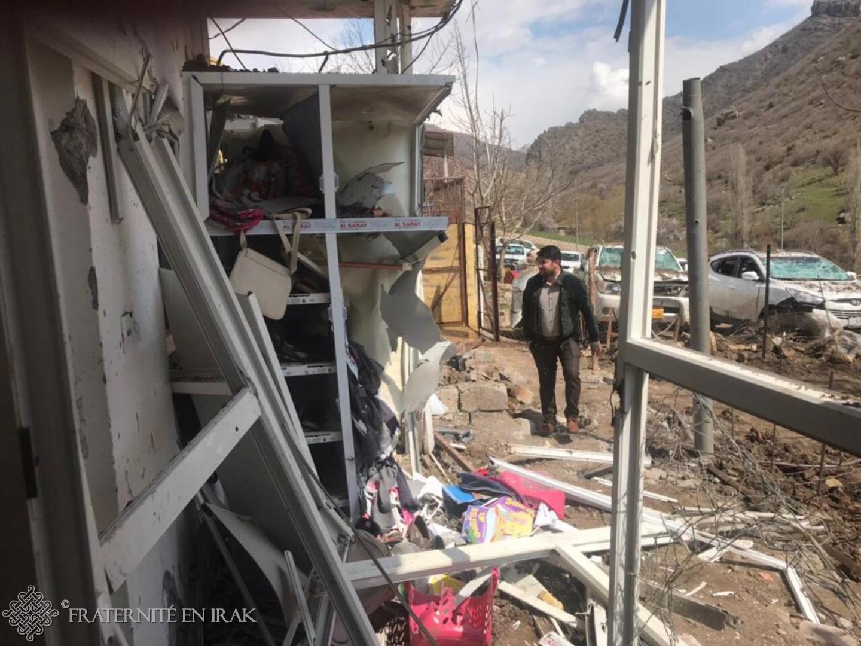 En Irak, le village de Sharanish de nouveau frappé par des bombardements
