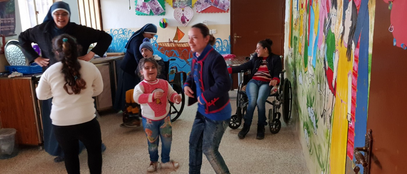 First overview of the center for disabled children in Qaraqosh!