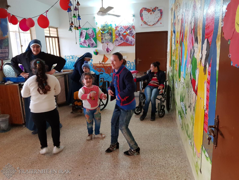 Premier aperçu du centre pour enfants handicapés à Qaraqosh !