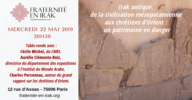 22 mai – Paris : table-ronde « Irak antique, un patrimoine en danger »