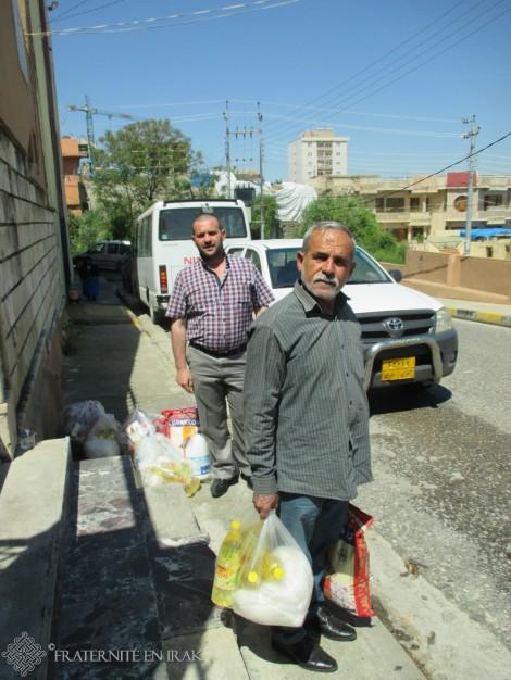 Soutien aux habitants de Sharanish, un mois après les bombardements