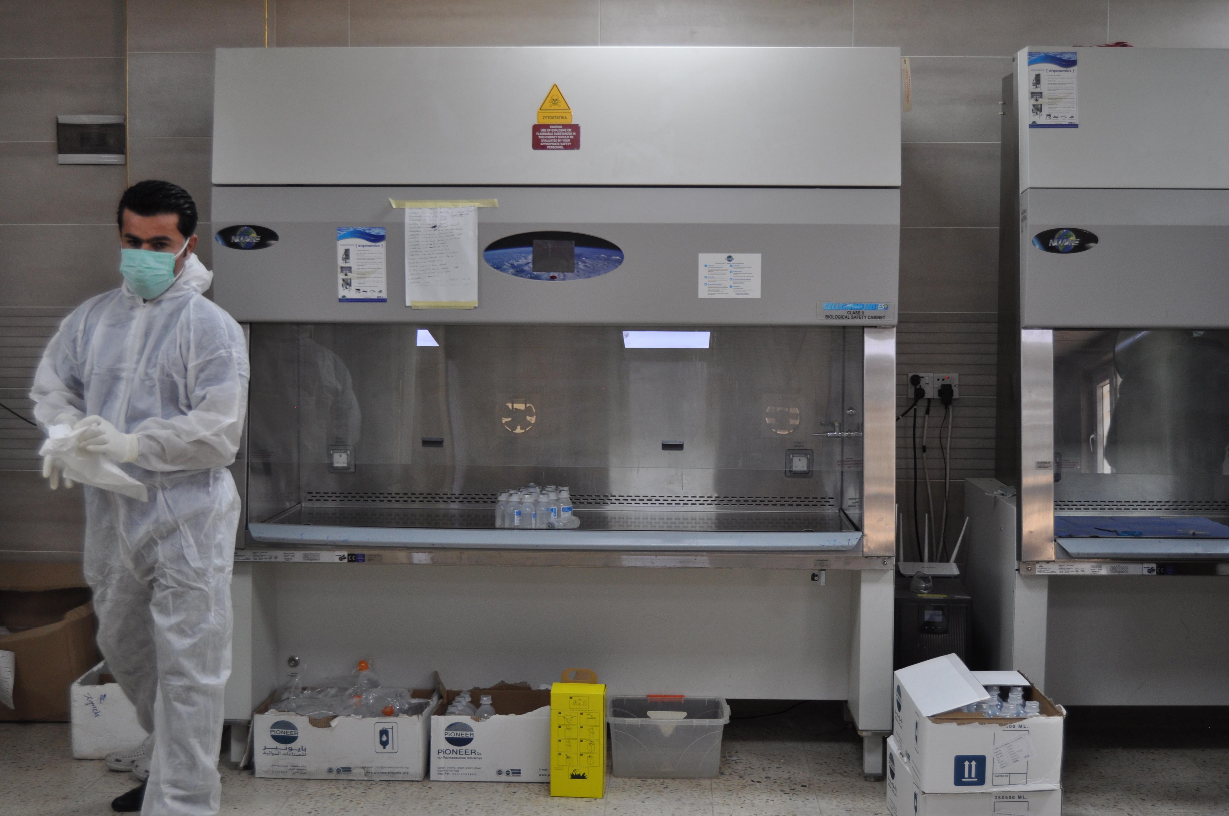 Kirkouk_Centre_oncologique_Machines_préparations_stériles